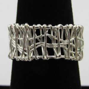 Vintage Size 7.5 Sterling Handmade Wire Band Ring
